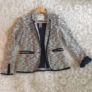 Anthropologie soft textured blazer